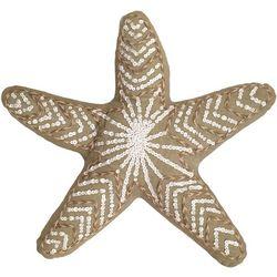 Thro Triton Starfish Shaped Decorative Pillow