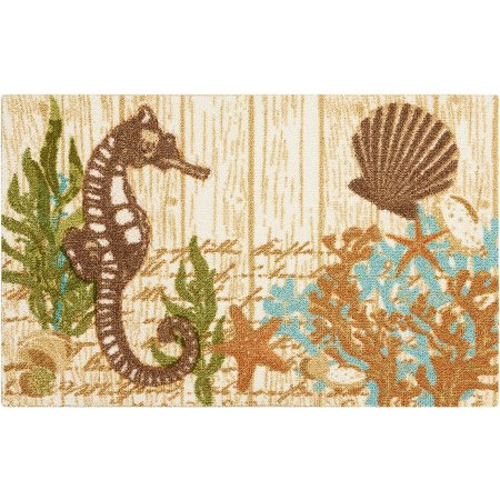 Nourison Seahorse & Sea Shell Accent Rug