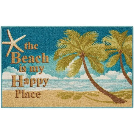 Nourison Beach Is My Happy Place Accent Rug