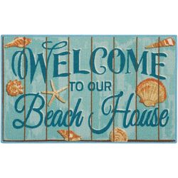 Nourison Welcome To Our Beach House Blue Rug