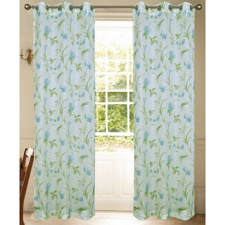 Beatrice 2-pk. Orchid Flower Curtain Panels