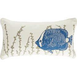 Rizzy Home Fish Embroidery Decorative Pillow
