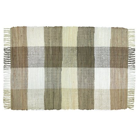 Park B. Smith Agra Natural Plaid Chindi Rug