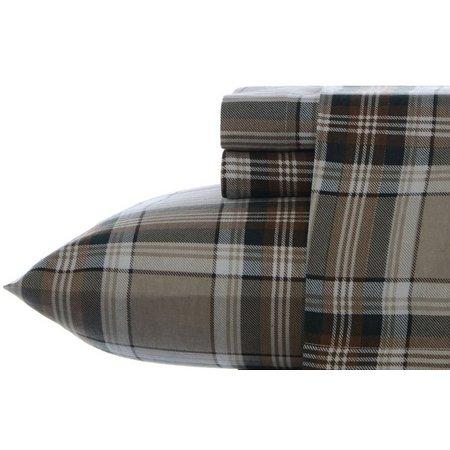 Eddie Bauer Edgewood Plaid Flannel King Sheet Set