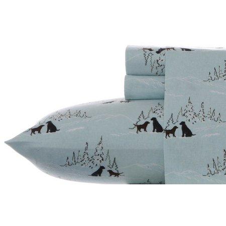 Eddie Bauer Dog Friends Flannel King Sheet Set