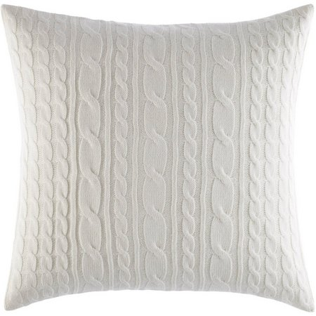 Laura Ashley Ella Cable Knit Decorative Pillow