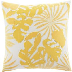 Tommy Bahama Yellow Palm 20'' Square Pillow