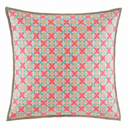 Nine Palms Geo 20'' Square Decorative Pillow