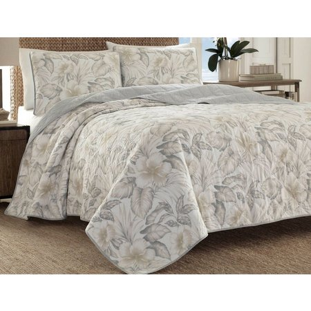 Tommy Bahama Casablanca Garden Brown Quilt Set