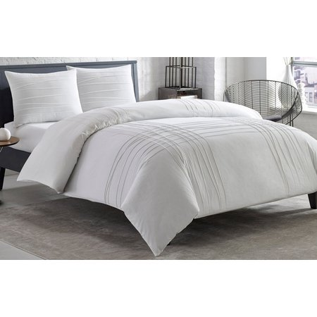 City Scene Varigated Pleats Comforter Set