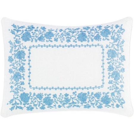 Laura Ashley Olivia Floral Border Breakfast Pillow