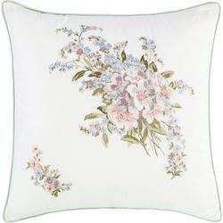 New! Laura Ashley Harper 18'' Embroidered Square Pillow
