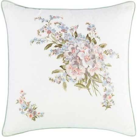 Laura Ashley Harper 18'' Embroidered Square Pillow