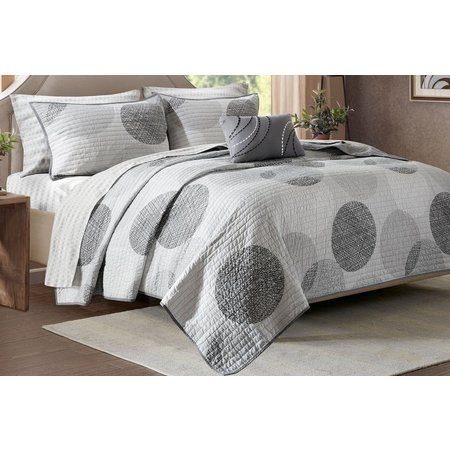 Madison Park Knowles Grey Coverlet Set