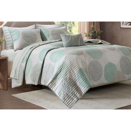 Madison Park Knowles Aqua Coverlet Set