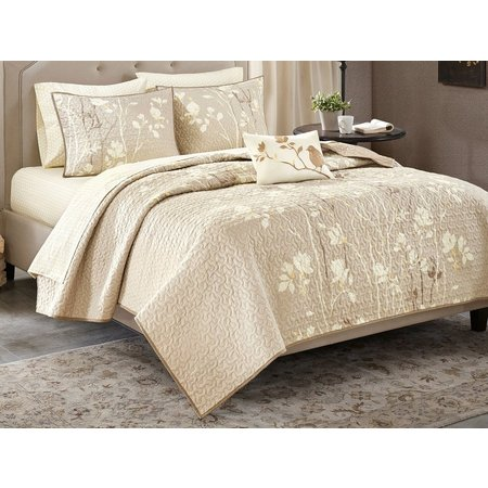 Madison Park Vaughn Taupe Coverlet Set