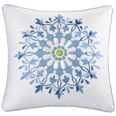 Echo Design Sardinia White Decorative Pillow