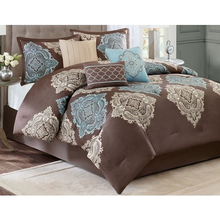 Madison Park Lola Aqua 7 Pc Comforter Set Bealls Florida