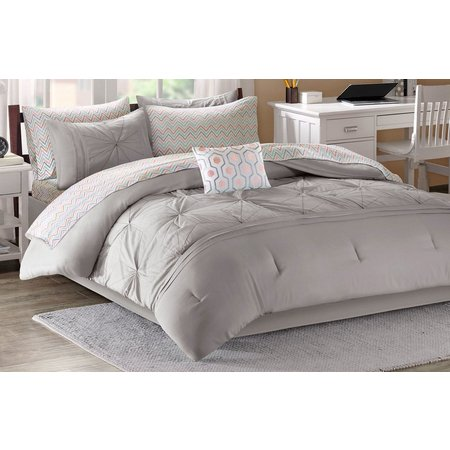 Intelligent Design Toren Grey Comforter & Sheet Set