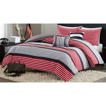 Intelligent Design Paul Red Comforter Set