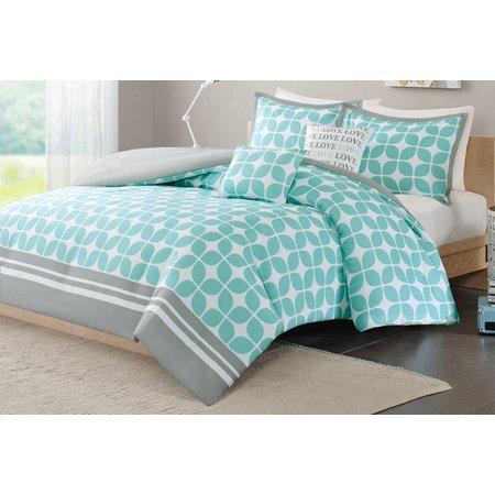 Itelligent Design Lita Aqua Comforter Set