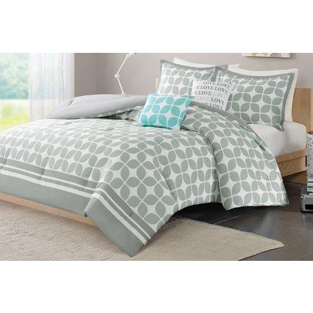 Itelligent Design Lita Grey Comforter Set