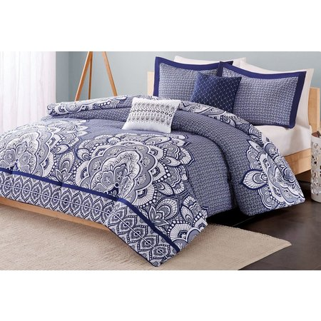 Intelligent Design Isabella Blue Comforter Set