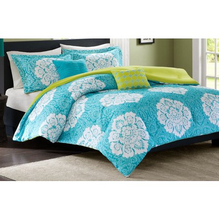 Intelligent Design Tanya Blue Comforter Set