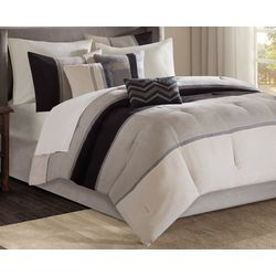 Madison Park Palisades Black 7-pc. Comforter Set