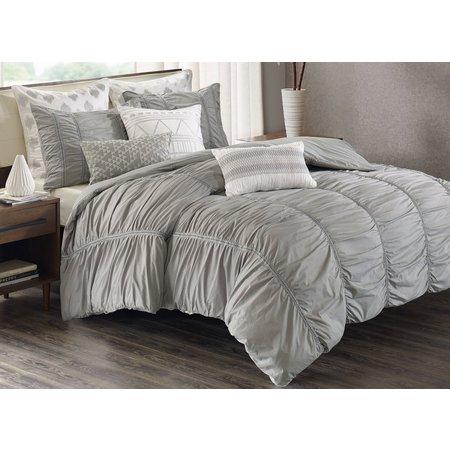 Ink & Ivy Reese Grey 3-pc. Comforter Set