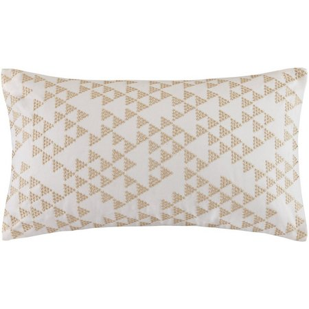 Ink & Ivy Thea Gold Embroidered Decorative Pillow