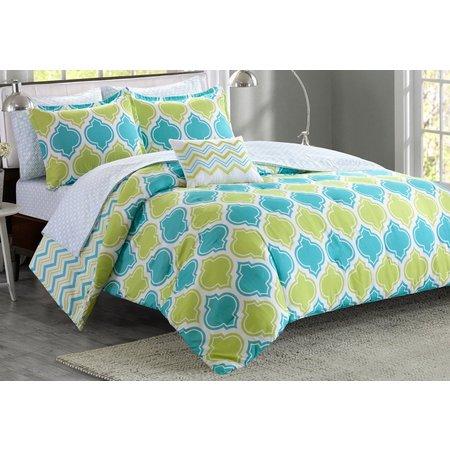 Itelligent Design Dixie Aqua Comforter Set