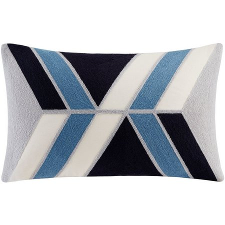 Ink & Ivy Aero Blue Oblong Decorative Pillow