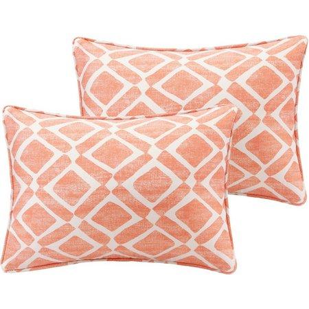 New! Madison Park Delray Diamond 2 pc. Pillow
