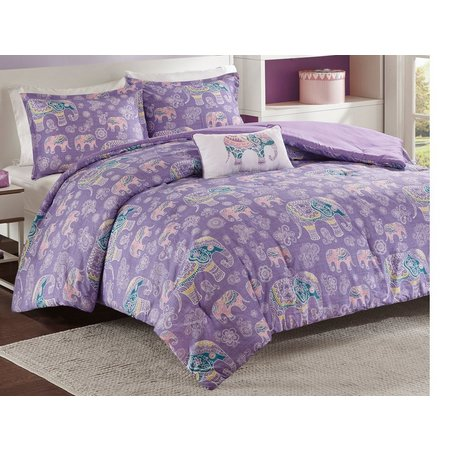 Mi Zone Elly Purple Comforter Set