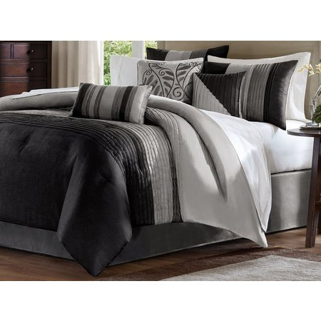 Madison Park Amherst Black 7-pc. Comforter Set