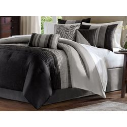 Madison Park Amherst Black 7-pc. Comforter Set