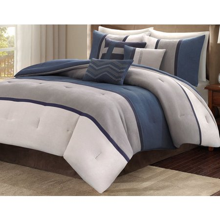 Madison Park Palisades Blue 7-pc. Comforter Set