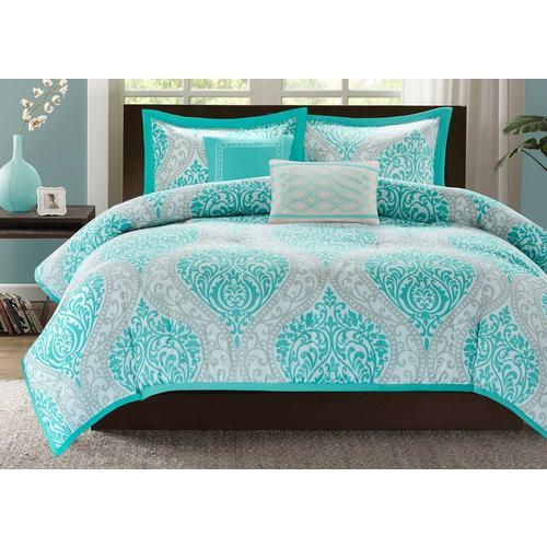 Intelligent Design Senna Aqua Blue Comforter Set Bealls