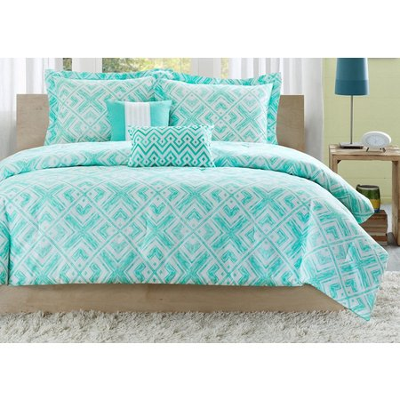 Intelligent Design Laurent Teal Comforter Set
