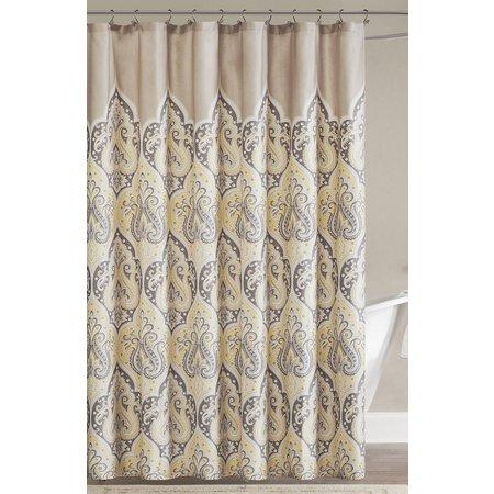 Madison Park Nisha Yellow Shower Curtain