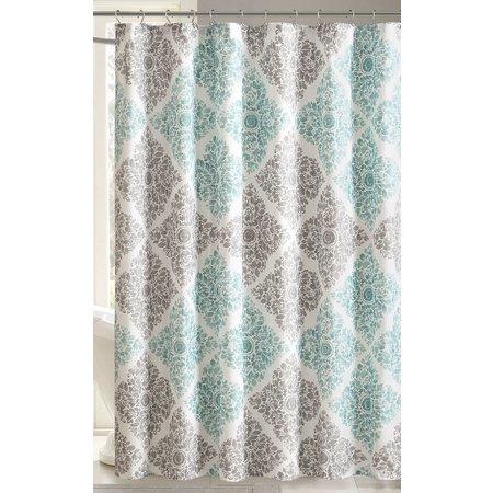 Madison Park Claire Aqua Shower Curtain