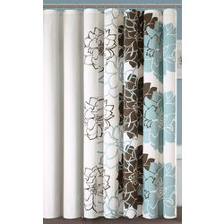 Madison Park Lola Blue Shower Curtain