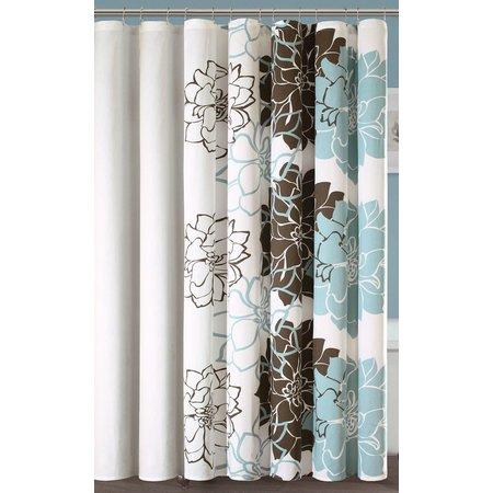 Madison Park Lola Blue Shower Curtain