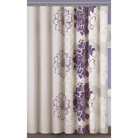 Madison Park Lola Purple Shower Curtain