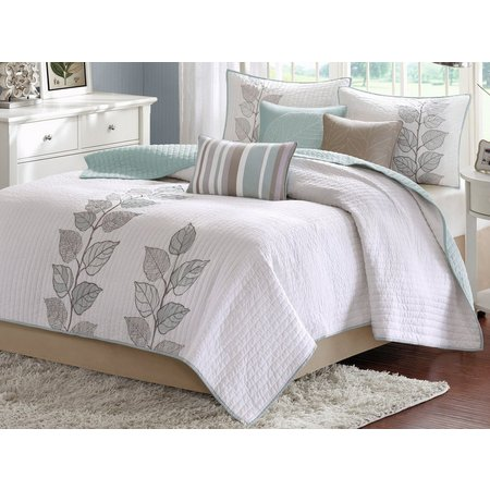 Madison Park Caelie Blue 6-pc. Coverlet Set