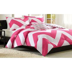 Mi Zone Libra Pink & White Comforter Set
