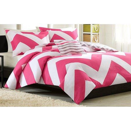 Mi Zone Libra Pink & White Duvet Cover
