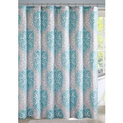 Intelligent Design Senna Aqua Shower Curtain
