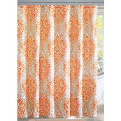 Intelligent Design Senna Orange Shower Curtain